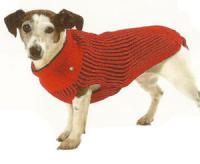 Karlie Hundepullover Rot-Schwarz - 26 cm