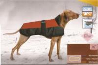 Hundemantel Eisbär Rot-Schwarz Premium - 35 cm