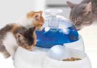catit Fresh und Clear Trinkbrunnen 3 Liter mit Futternapf