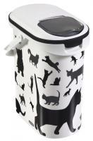 CURVER Futter-Container mit Katzen-Silhouette 10 Liter für ca. 4kg Futter